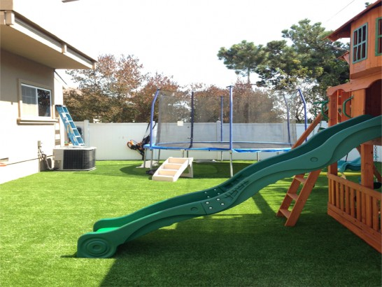 Artificial Grass Photos: Artificial Grass Installation Cambria, California Playground Safety, Backyard Design