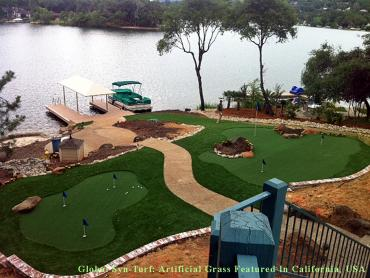 Artificial Grass Photos: Artificial Grass Installation Fowler, California Indoor Putting Green, Backyard Landscaping