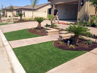 Artificial Grass Photos: Artificial Grass Installation Turlock, California Landscape Rock, Front Yard Landscaping