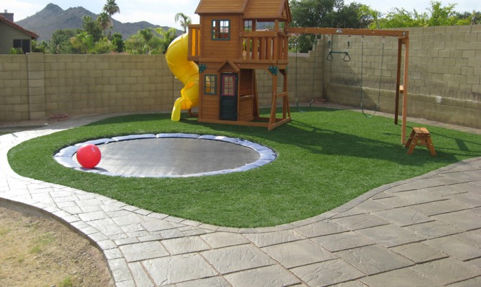Artificial Grass for Playgrounds in Fresno